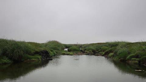 pond on Iceland Footage