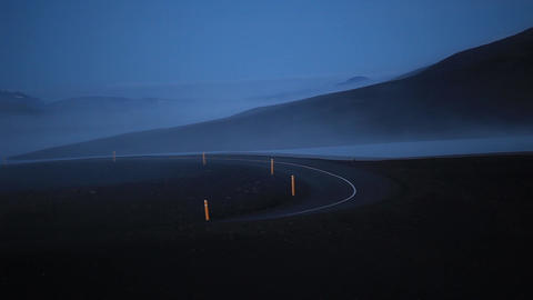 Winding Empty Road In Iceland stock footage