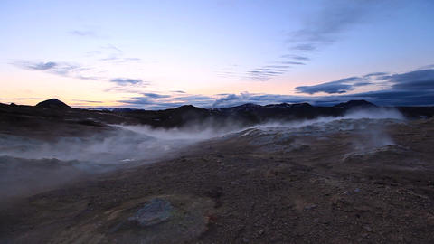 Geothermal Activity In Hveraroend, Iceland stock footage