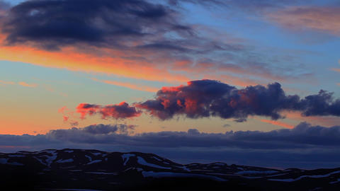 sunset at Snaefellsjoekull in Iceland Footage
