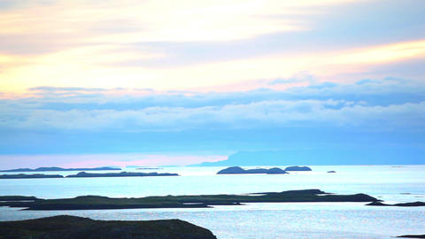 Small volcanic islands of the Iceland coast Footage