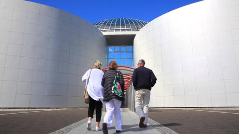 Entrance To The Perlan In Reykjavik, Iceland stock footage