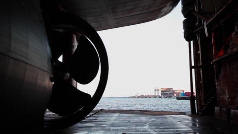 gigantic ships propeller Footage