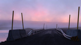 Bridge With Safety Barriers At Sunset In Iceland stock footage