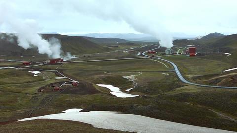 Geothermal Powerplant stock footage