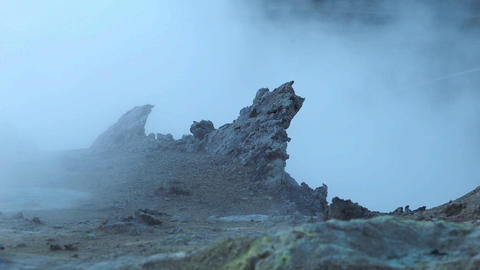 Haze of volcanic gases in Hveraroend Footage