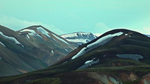 rangy landscape at Landmannalaugar, Iceland Footage