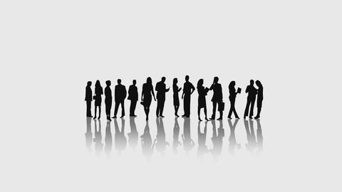 Business People Into White Environment Animation