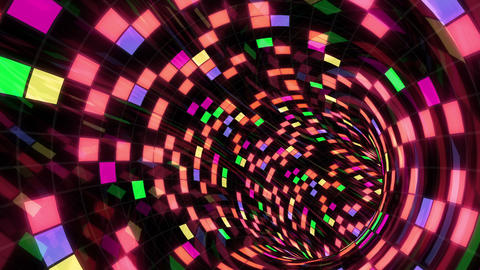 Disco Dance Tunnel E 03 4k Animation