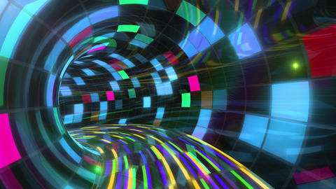 Disco Dance Tunnel Dx 03f 4k Stock Video Footage