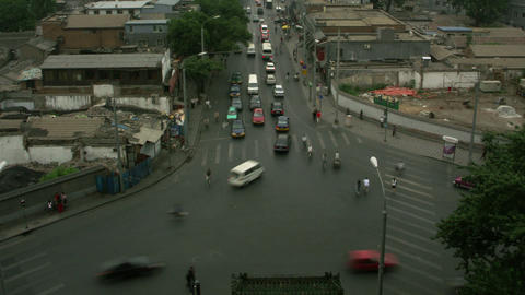 Timelapse Beijing intersection Live Action