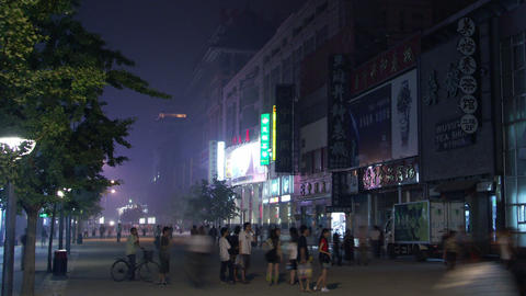 Timelapse Wangfujing Shopping District Live Action