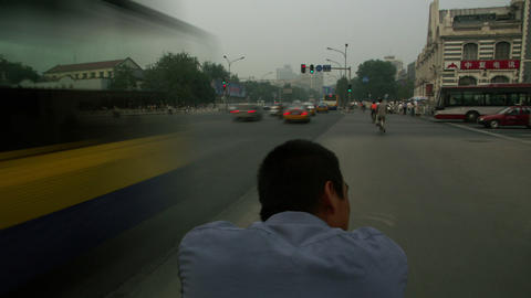 Timelapse Beijing trishaw Footage