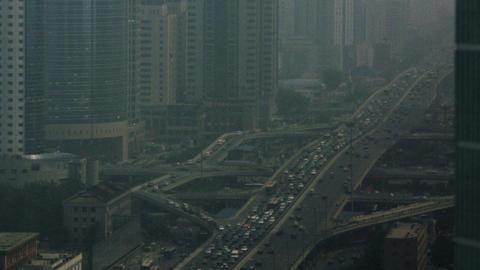 Timelapse Beijing CBD stock footage