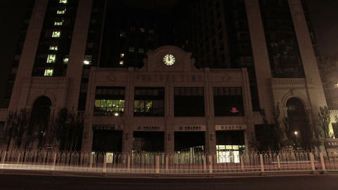 Timelapse Fortune Time Building stock footage
