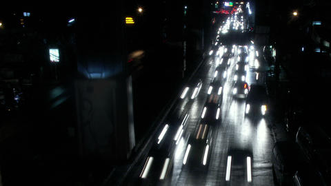 Timelapse Bangkok traffic Live Action