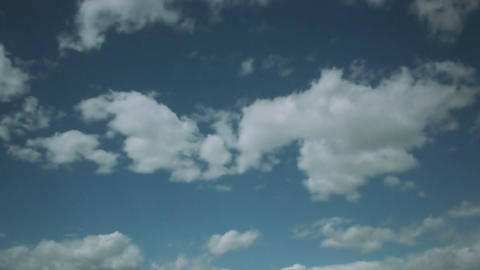 Timelapse sunny clouds Live Action