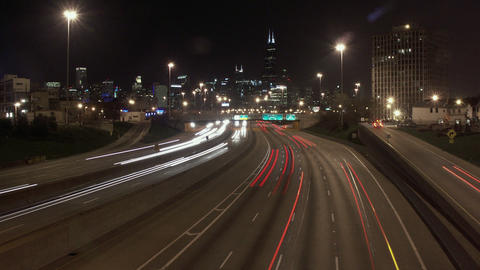 Timelapse I-90 freeway Footage
