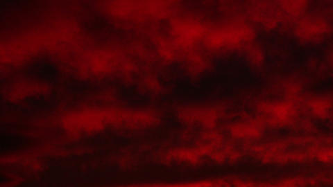 Timelapse red clouds Footage