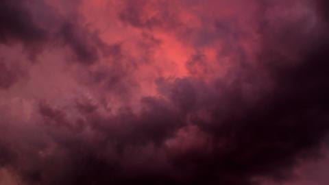 Timelapse dark clouds Footage