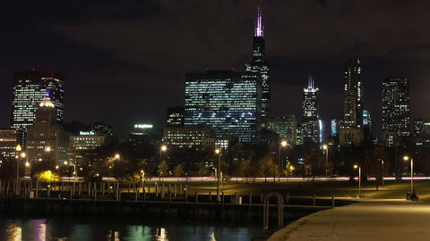 Timelapse Lake Shore Drive stock footage