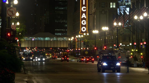 Timelapse Chicago Theater Live Action