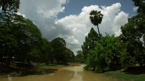 Timelapse Cambodia river Live Action