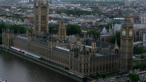 Timelapse British House Of Parliament stock footage
