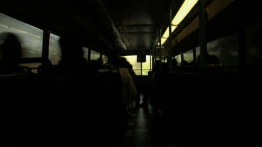 Timelapse Bus Ride stock footage