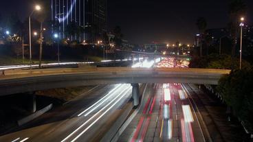 Timelapse Los Angeles traffic Footage