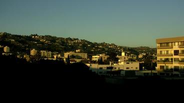 Timelapse Beverly Hills skyline Footage