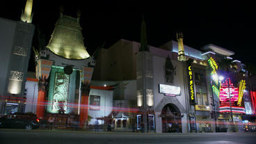 Timelapse Grauman's Chinese Theatre Footage