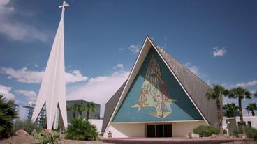 Timelapse Las Vegas Church stock footage