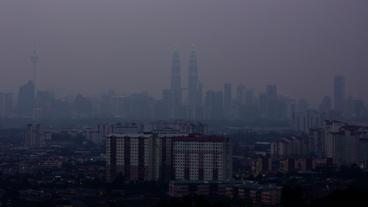 Timelapse Kuala Lumpur skyline Footage