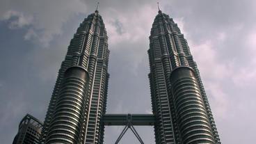Timelapse Petronas Twin Towers Footage