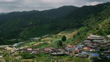 Timelapse hill village Footage