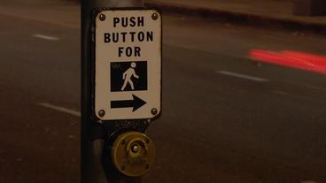 Timelapse crosswalk button Footage