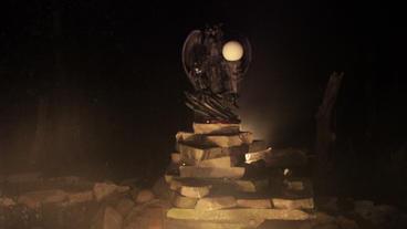 Timelapse gargoyle statue Footage