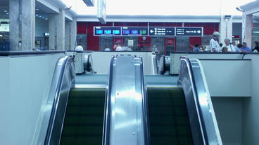 Timelapse escalator Footage
