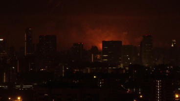 Timelapse skyline fire Footage