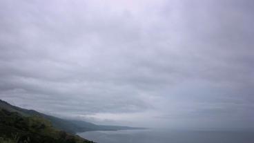 Timelapse rainy coast Footage