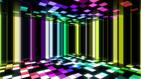 Disco Dance Floor Room B 01 4k Animation