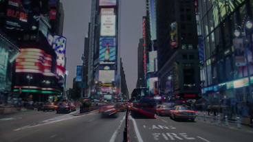 Timelapse Times Square Footage