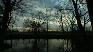 Timelapse Pond Sunrise stock footage