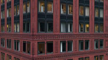 Timelapse Building Corner stock footage