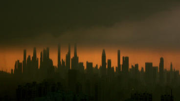 Timelapse Futuristic City Skyline stock footage