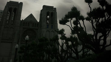 Timelapse Grace Cathedral stock footage