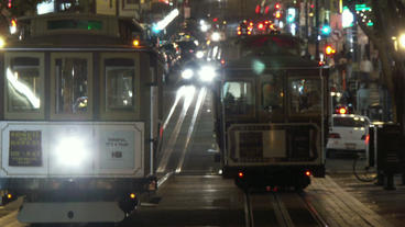 Timelapse cable car turn-around Footage