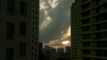Timelapse Singapore Apartment stock footage