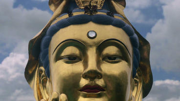 Timelapse Buddha statue Footage